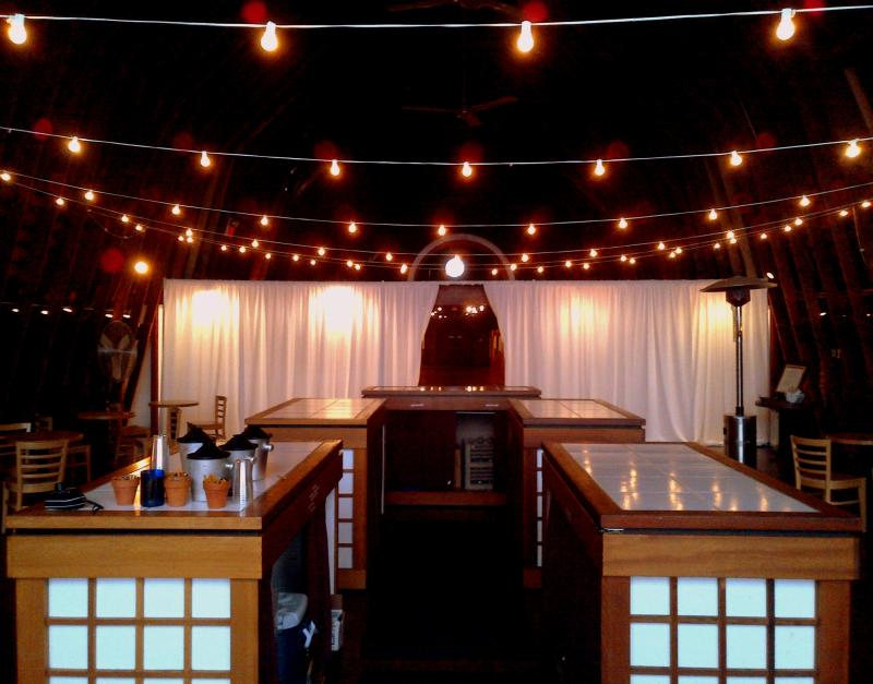 Millbrook Winery String Lights , Pipe & drape