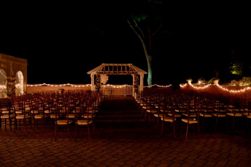 Ceremony String Lights at The Grandview Poughkeepsie NY