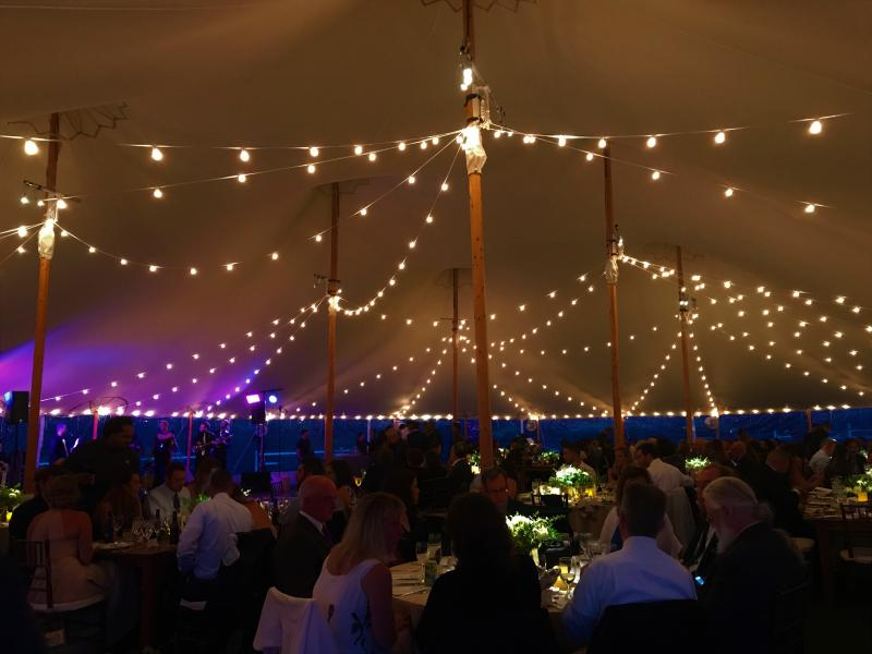 Bistro String Lighting at Jonathan Edwards Winery Stonington CT