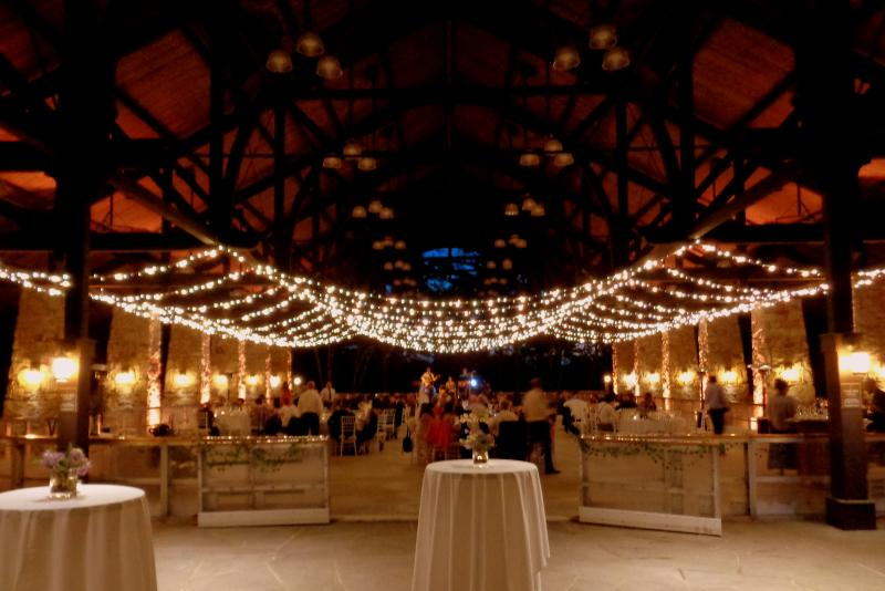 Bistro String Lighting in Pavilion