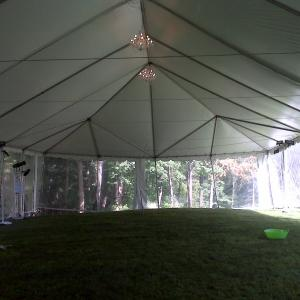 "100"" x 40"" Tent Before"