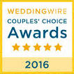 Wedding Wire 2016 Couples Choice Award